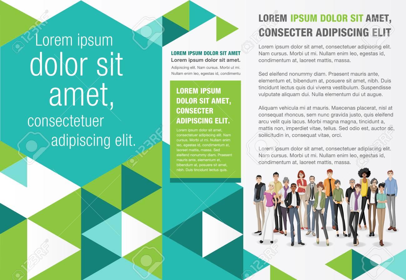 Vorlage Für Werbung Broschüre Mit Geschäftsleuten Lizenzfrei ...