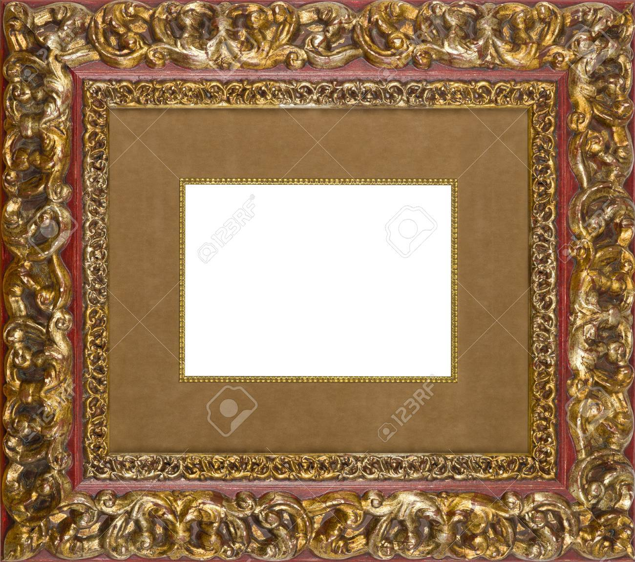 Gold art picture frame Stock Photo - 12603855