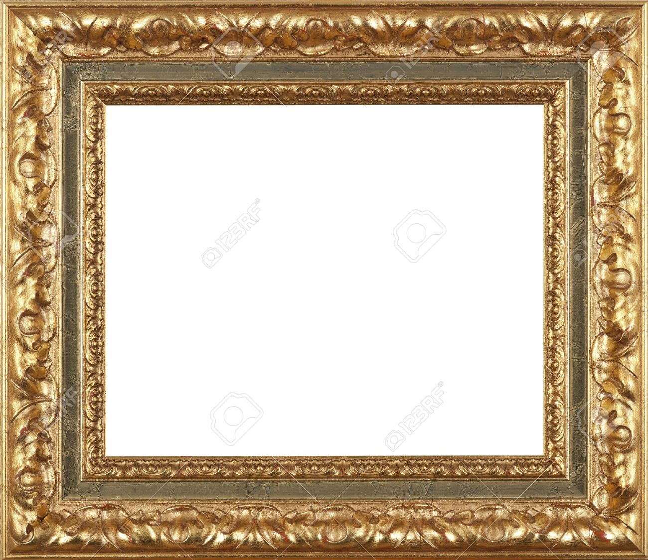 gold art picture frame stock photo 12603844