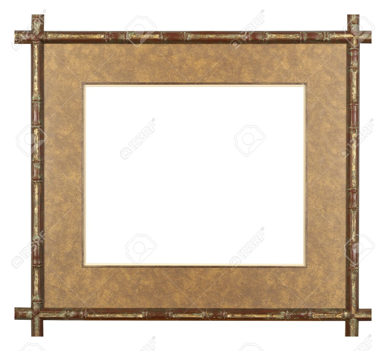 Art Picture Frame Bamboo Golden Stock Photo, Picture And Royalty ...