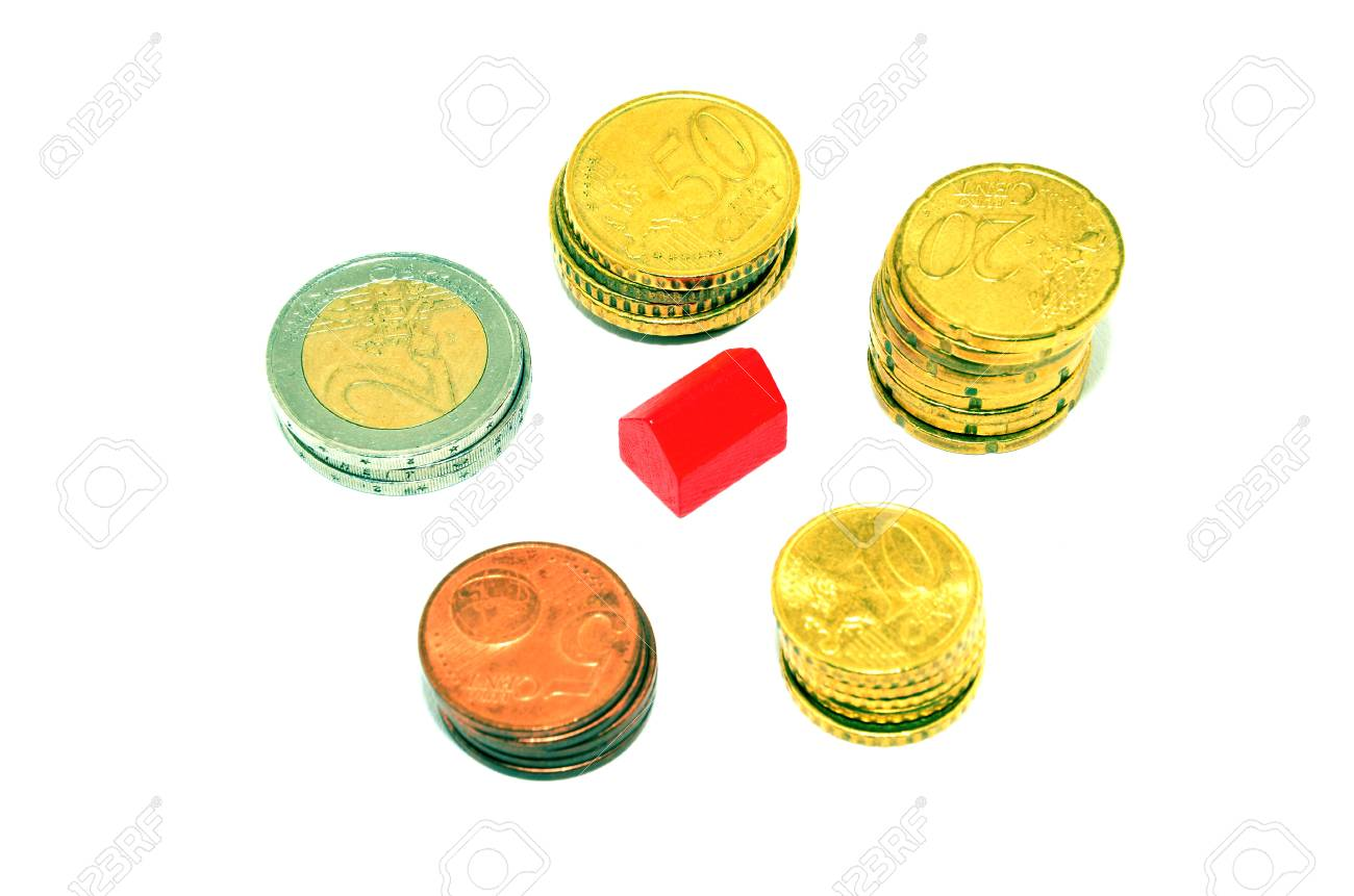 Coins and house Stock Photo - 13578084