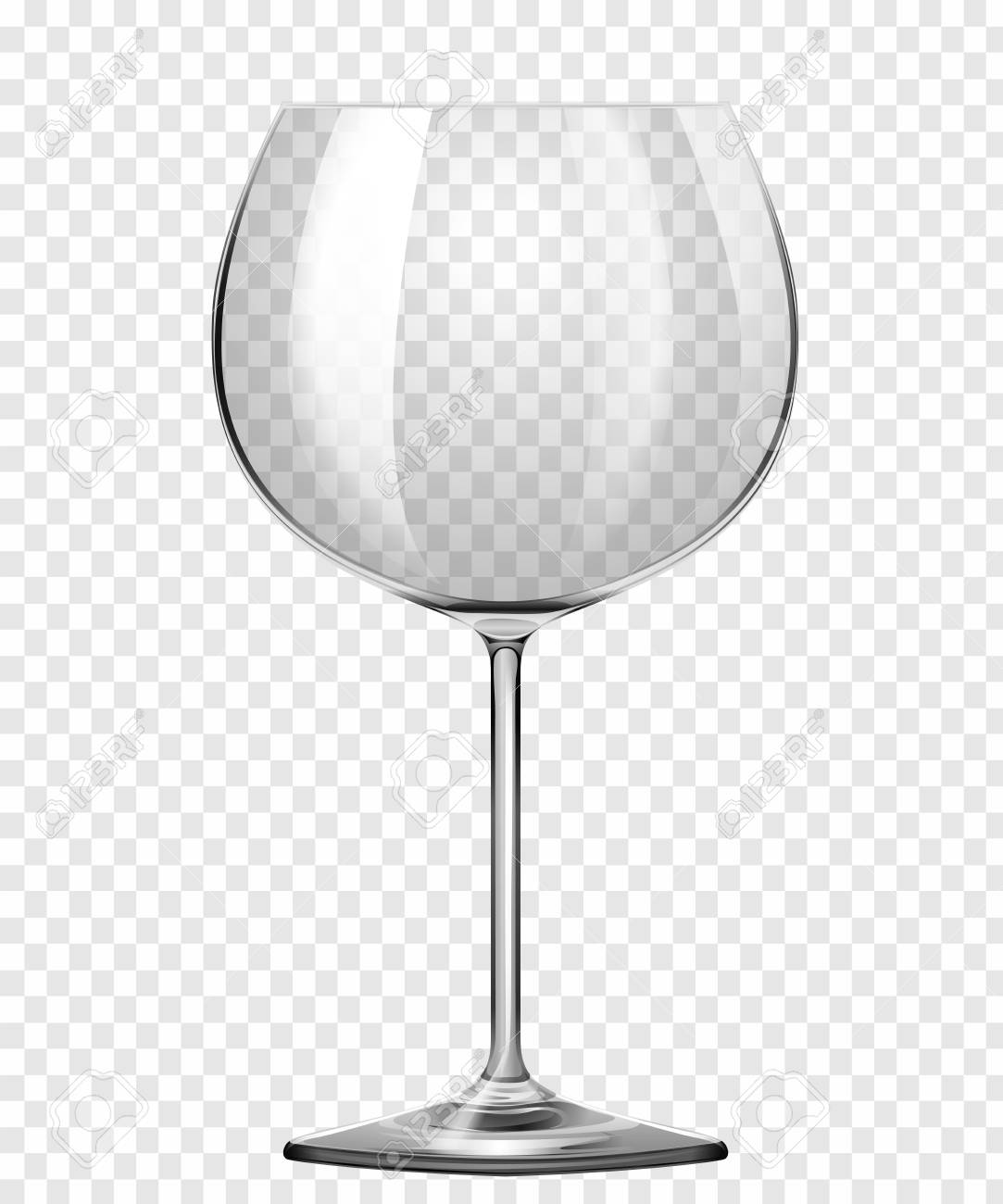 bff1a5ba8d2 Wine Glass On Transparent Background Vector Concept Royalty Free ...