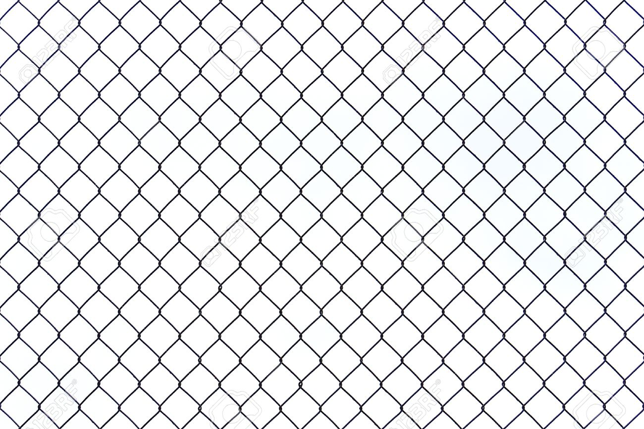Braid Wire Fence Texture On A White Background Stock Photo ...