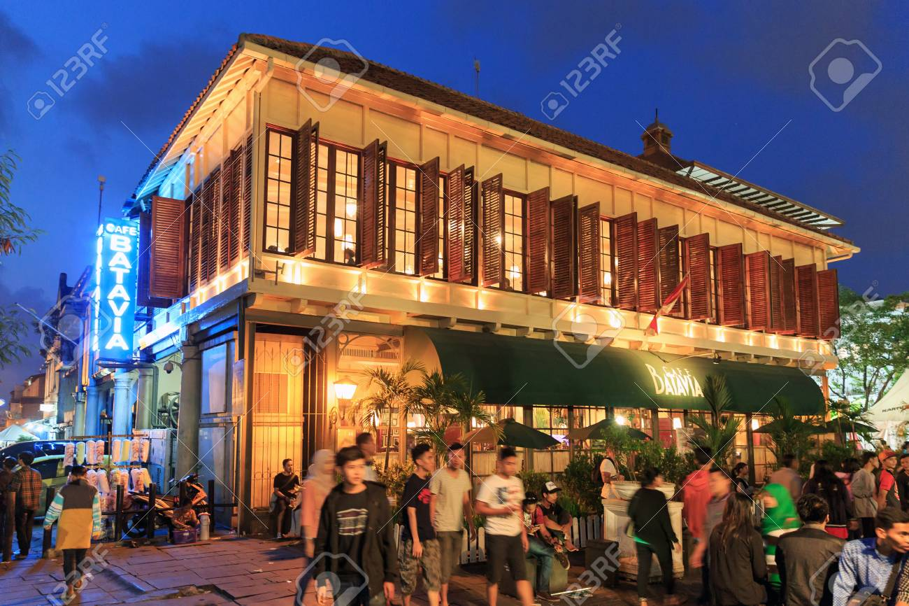 People Visit Restaurant Cafe Batavia A Colonial Landmark On Stock Photo Picture And Royalty Free Image Image 132419745