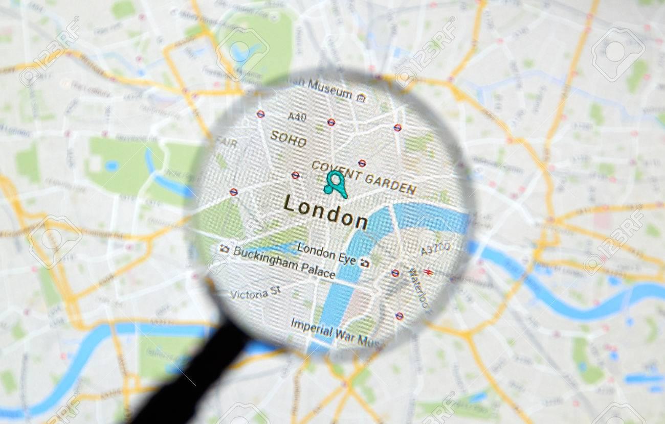 MONTREAL CANADA FEBRUARY 2016 London On Google Maps App