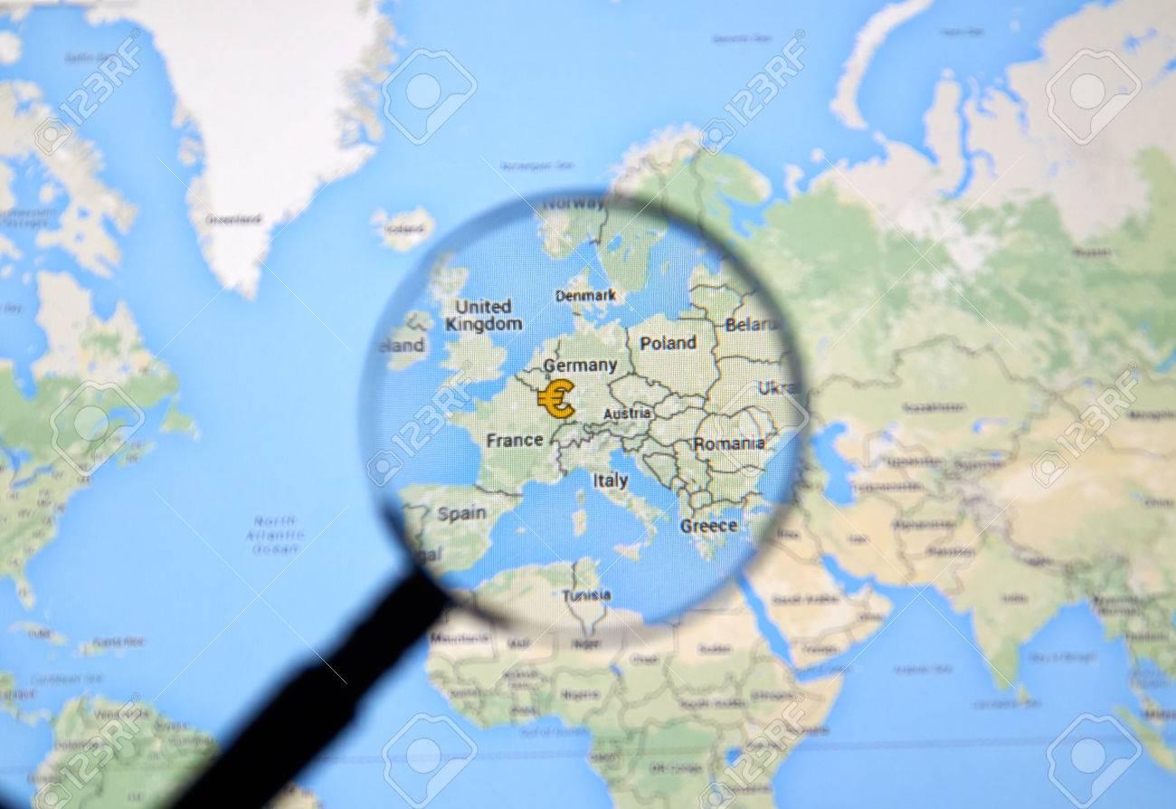 carte europe google maps