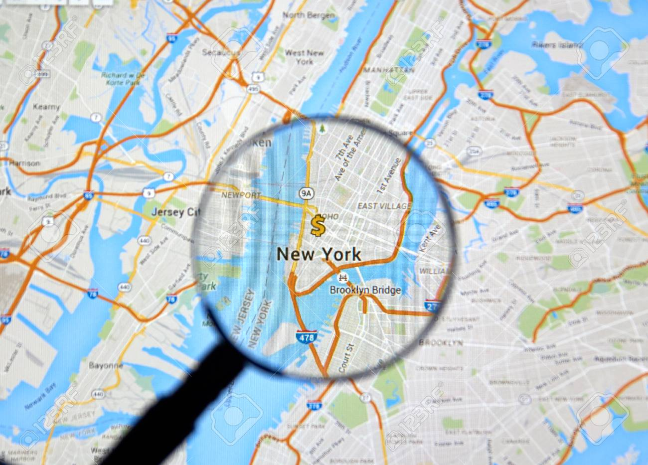 Google Map Of New York City.Montreal Canada February 2016 New York City With Dollar