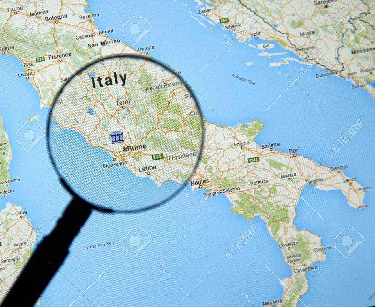 Montreal Canada February 2016 Italy And Rome On Google Stock