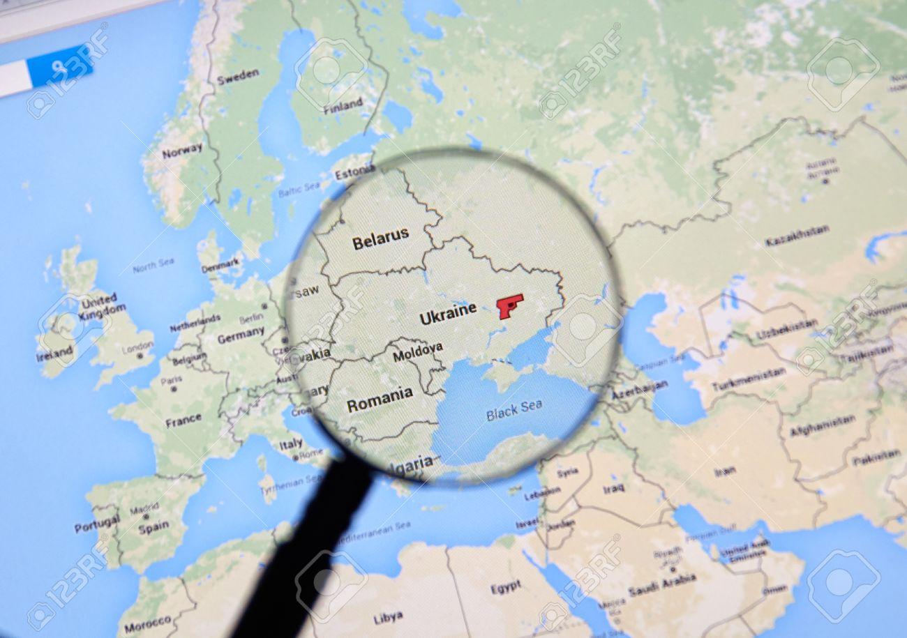 Montreal Canada Marzo 3 2016 Ucrania En Los Mapas De Google