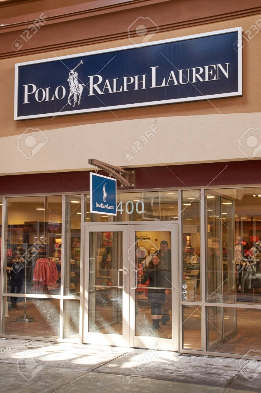 best service 8a341 8b8b8 MONTREAL, CANADA - MARCH 6, 2016 - Polo Ralph Lauren outlet in..