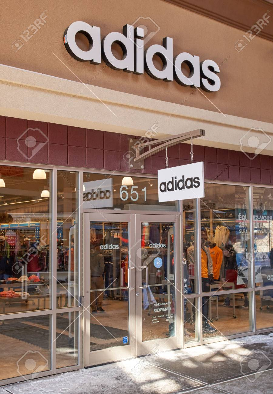 info pour 32177 d6217 MONTREAL, CANADA - MARCH 6, 2016 - Adidas outlet in Premium..