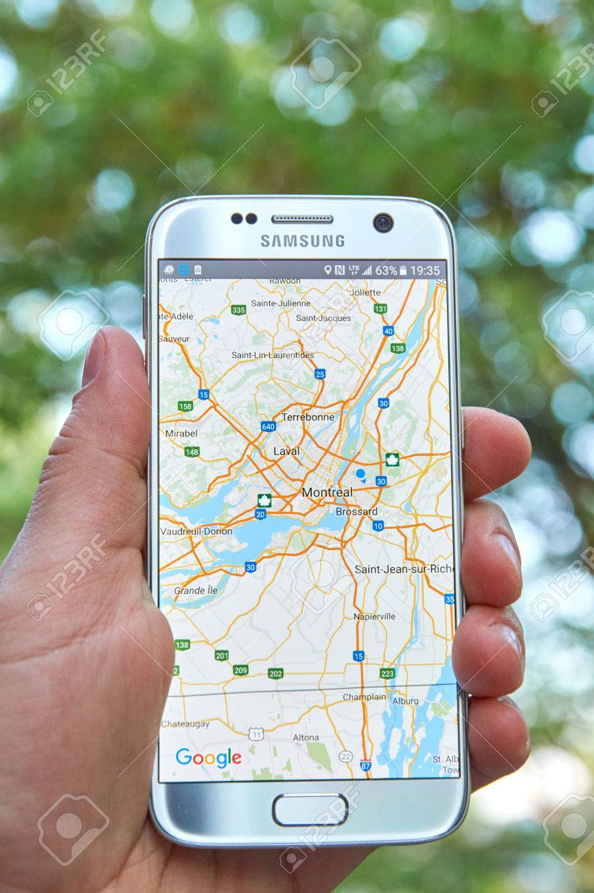 MONTREAL, CANADA - MAY 23, 2016 : Google Maps application on.. on toyota google maps, google chrome maps, fedex google maps, best google maps, bing google maps, disney google maps, amazon google maps, android google maps, mcdonalds google maps, iphone google maps, ipad google maps, pangea google maps, top 10 google maps, ifit google maps, arm google maps, starbucks google maps, xbox google maps, ge google maps, ipod google maps, kingston google maps,