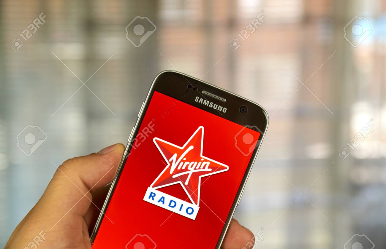 MONTREAL, CANADA - JUNE 24, 2016 : Virgin Radio android application