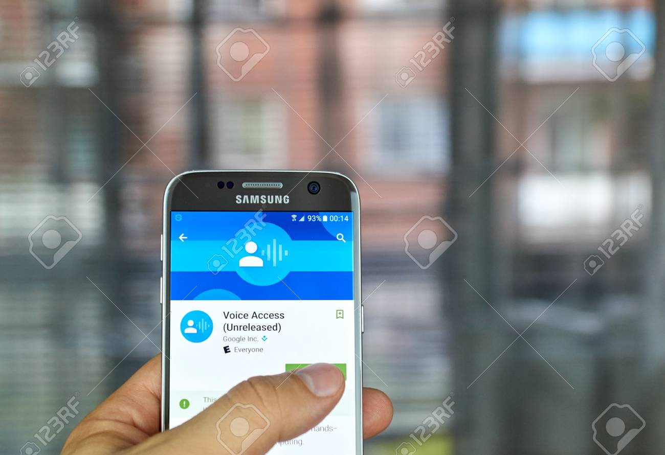 MONTREAL, CANADA - JUNE 23, 2016 : Google Voice Access is an