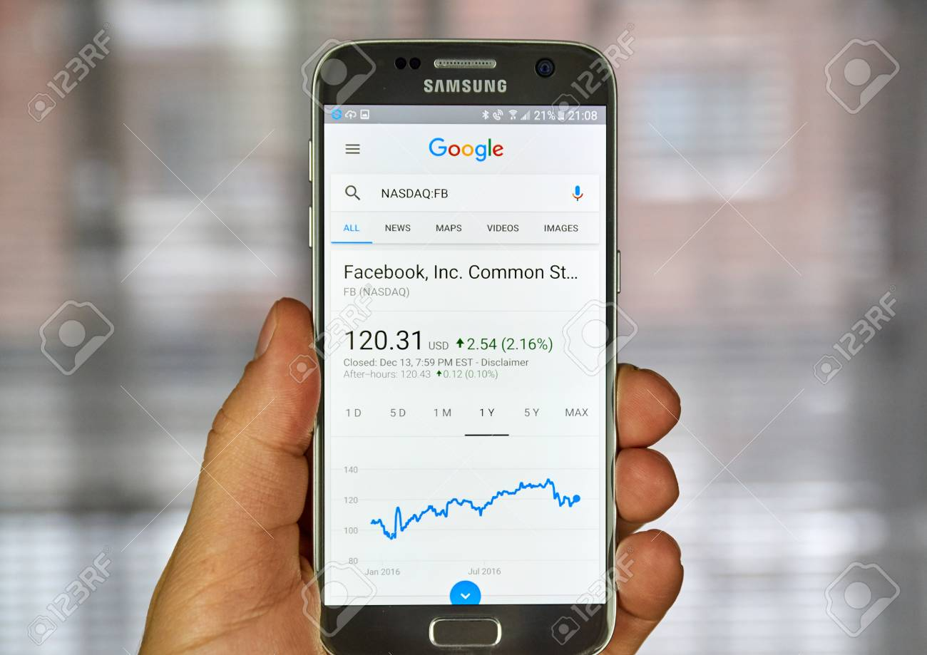 MONTREAL, CANADA - DECEMBER 23, 2016 : Google Finance page with