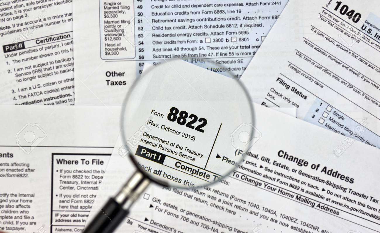 8822 Change Of Address Federal Tax Form Stock Photo, Picture And ...