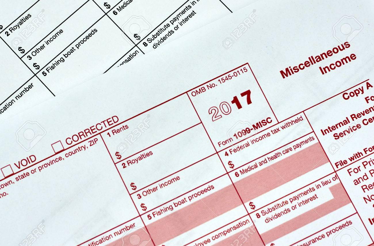 1099 Miscellanious Income Tax Form 1099 Misc Stock Photo Picture