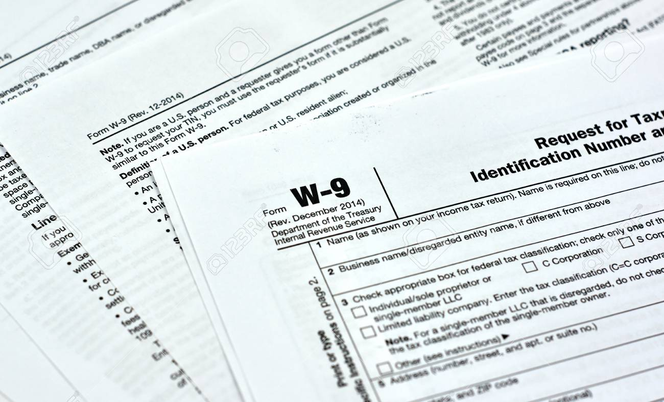 W 9 Usa Federal Tax Form Stock Photo Picture And Royalty Free Image