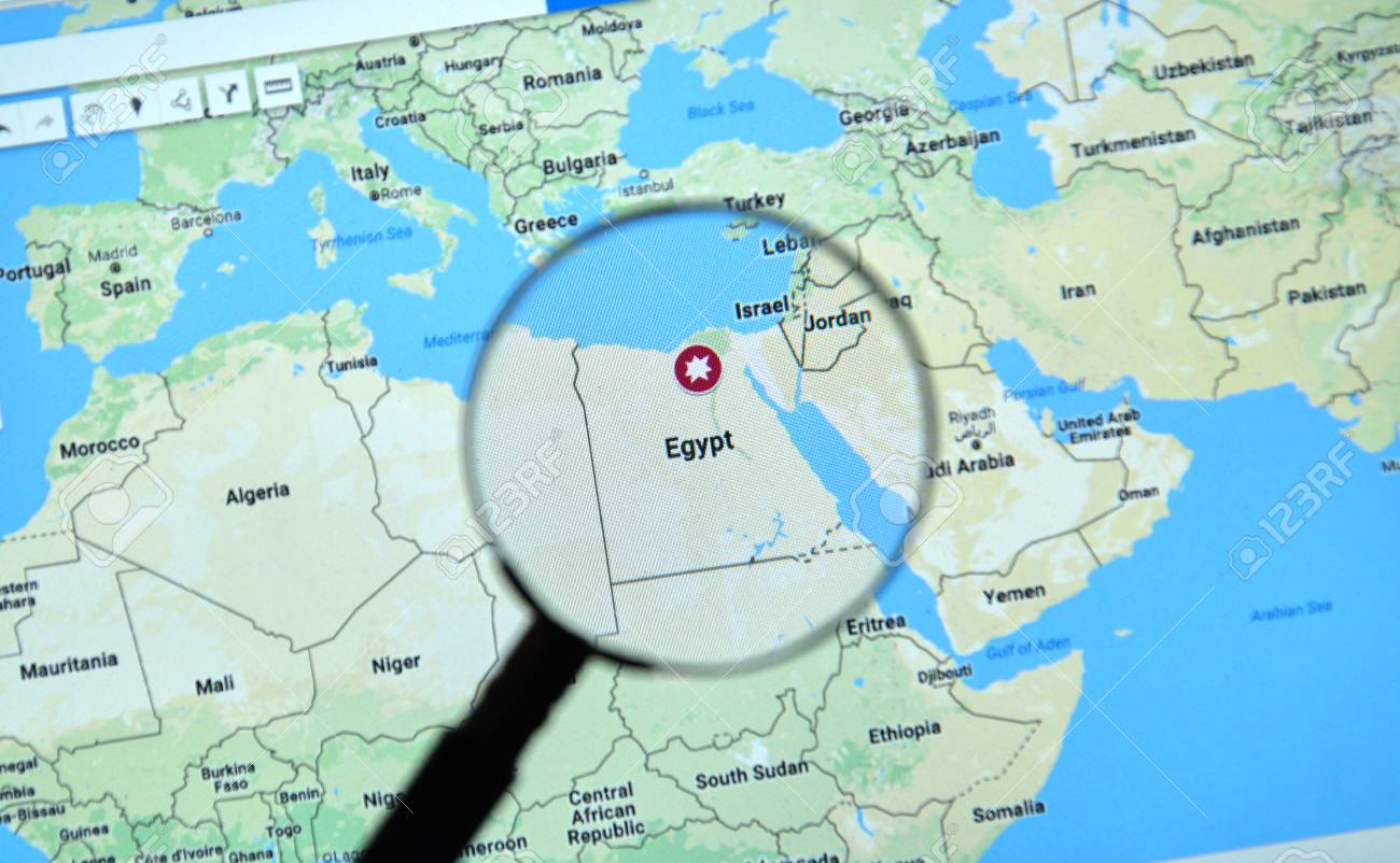 Montreal canada april 09 2017 egypt on google maps with stock montreal canada april 09 2017 egypt on google maps with explosion icon gumiabroncs Gallery