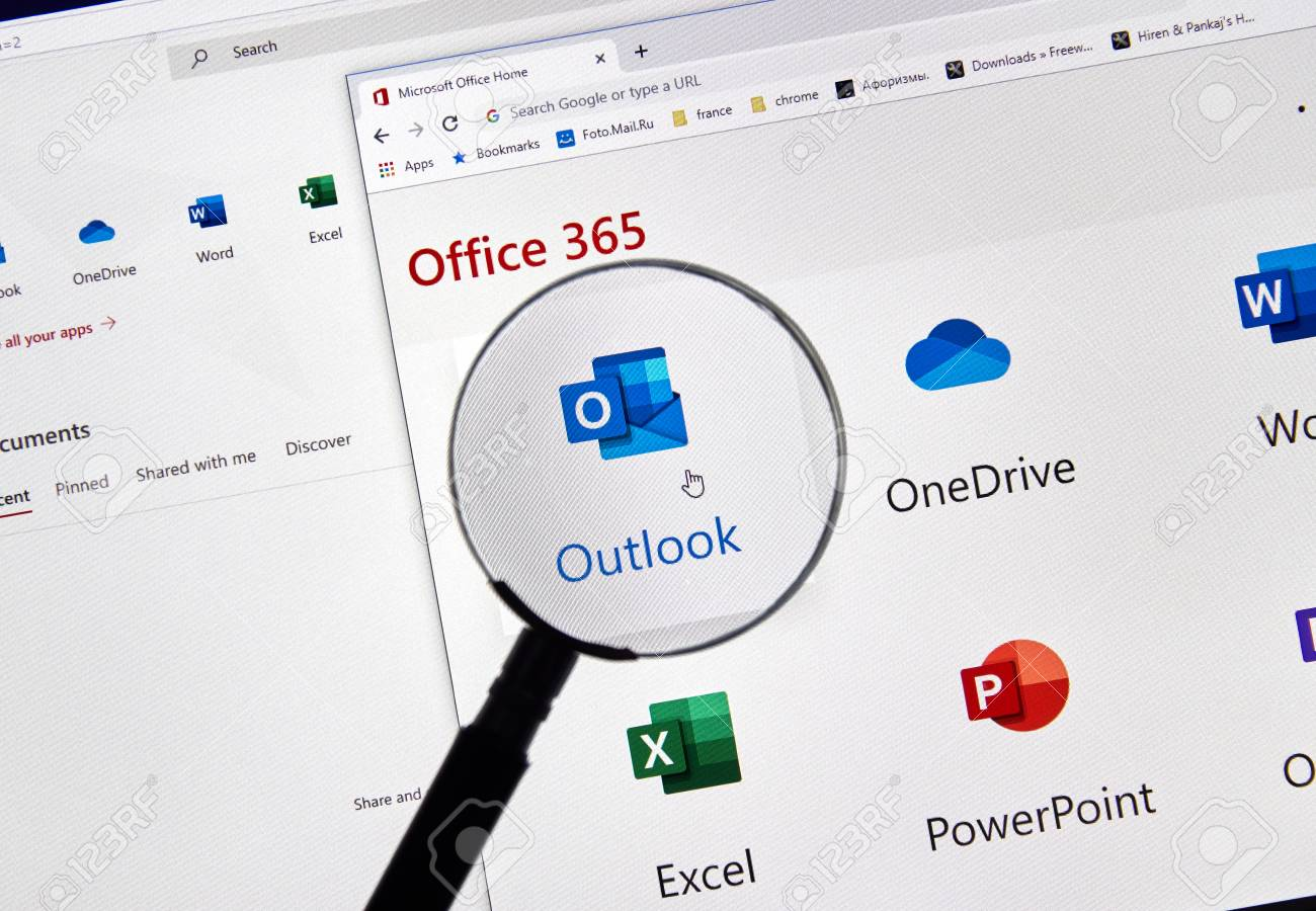 MONTREAL, CANADA - FEBRUARY 28, 2019: Microsoft Outlook new icon