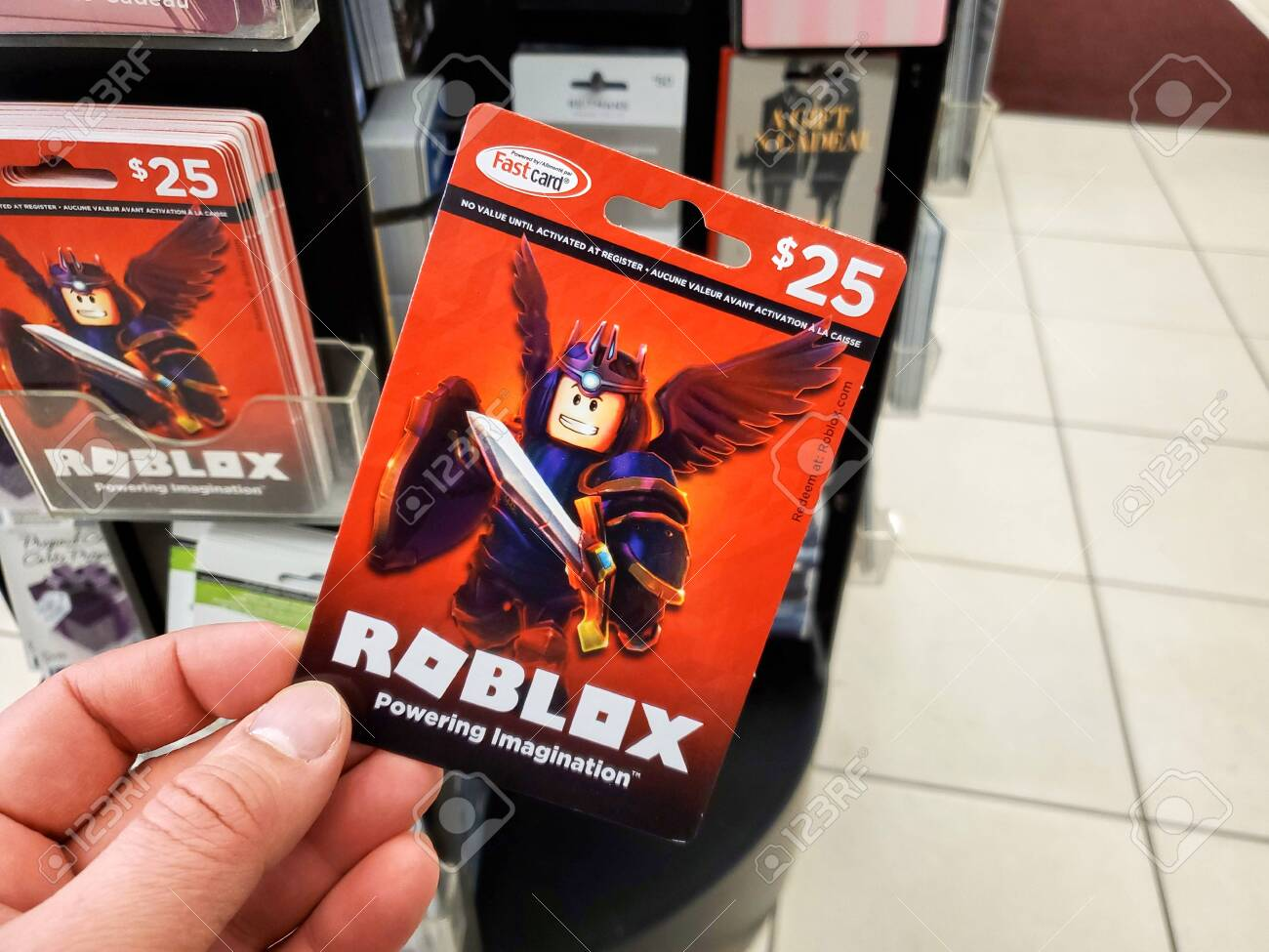 Montreal Canada March 22 2020 Roblox Gift Card In A Hand