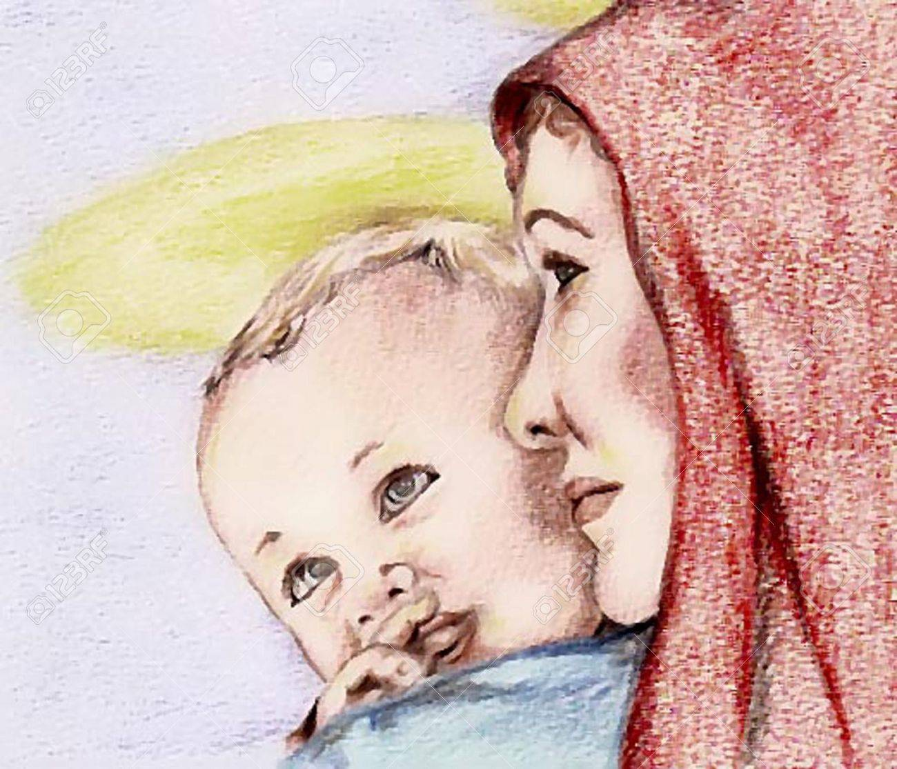 Madonna And Child Royalty Free Cliparts, Vectors, And Stock ...