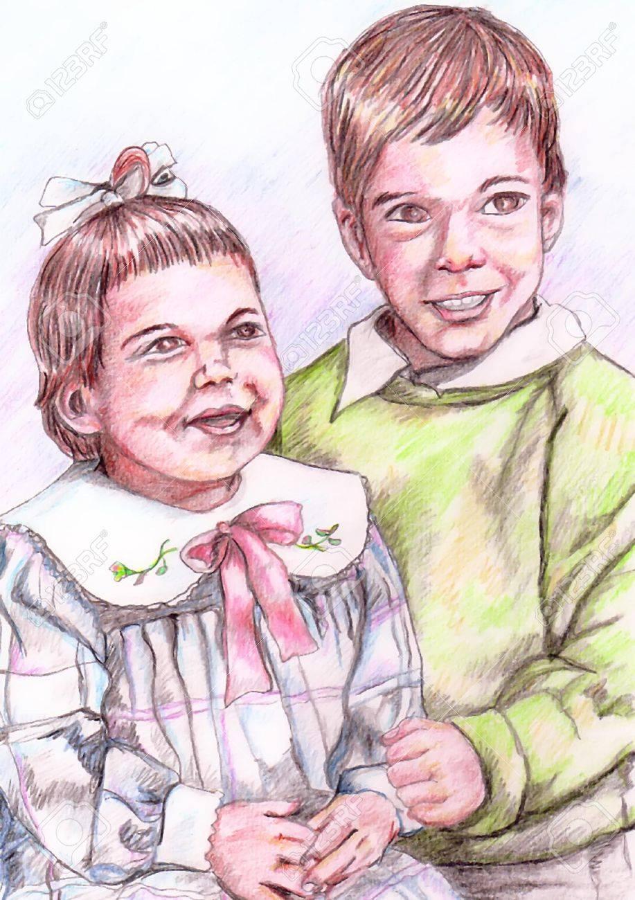 Boy and Girl Stock Vector - 2060617