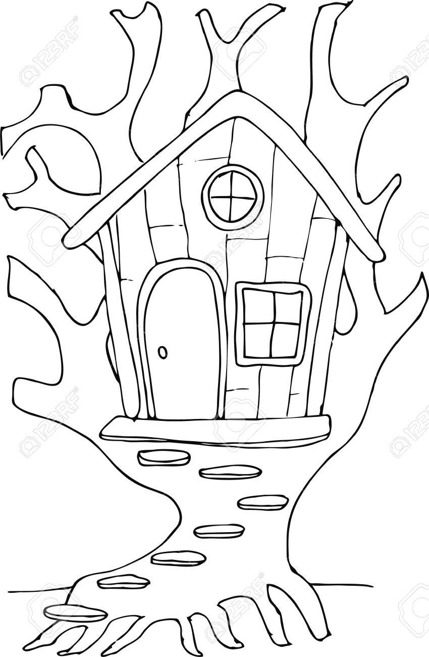 Drawn Doodle Style Tree House Cartoon Royalty Free Cliparts Vectors And Stock Illustration Image 60399955 The charts are black and white symbols. drawn doodle style tree house cartoon