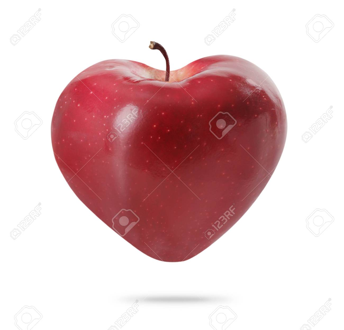 Heart  apple isolated on white background Stock Photo - 15304592