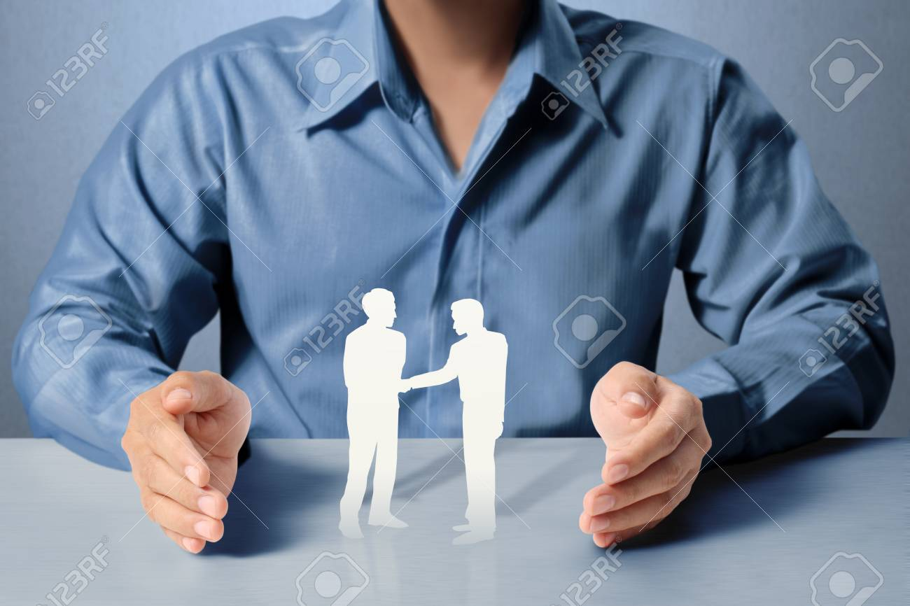 Open palm hand gesture of male hand Stock Photo - 18093385