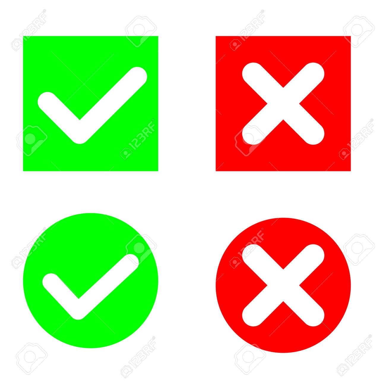 Approved illustration symbol collection, check mark list icons vector set. agree sign. - 165393859