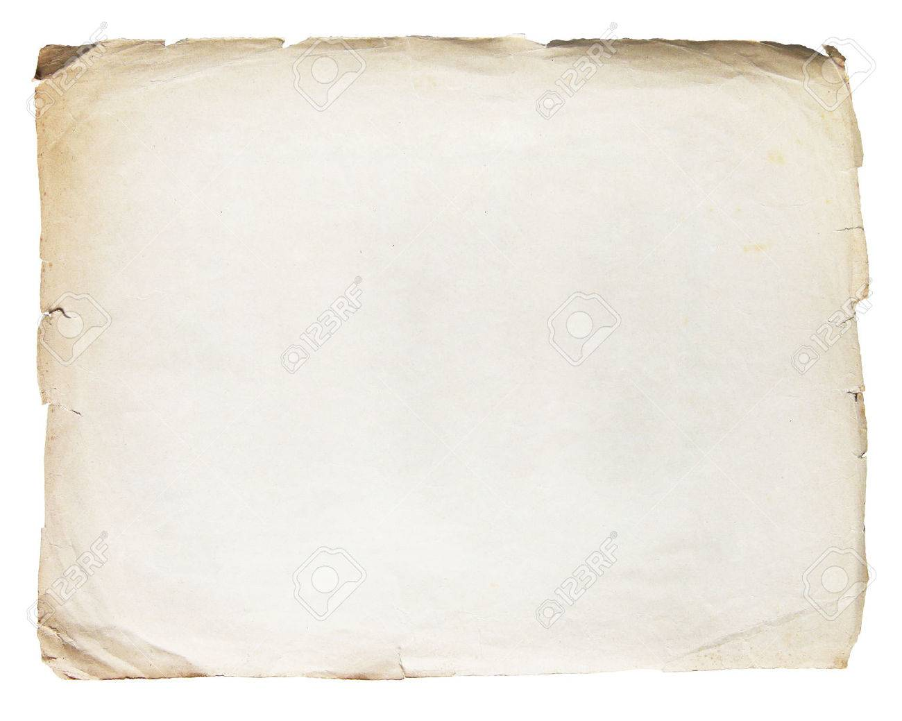 Vintage texture old paper background isolated on white Standard-Bild - 43797286