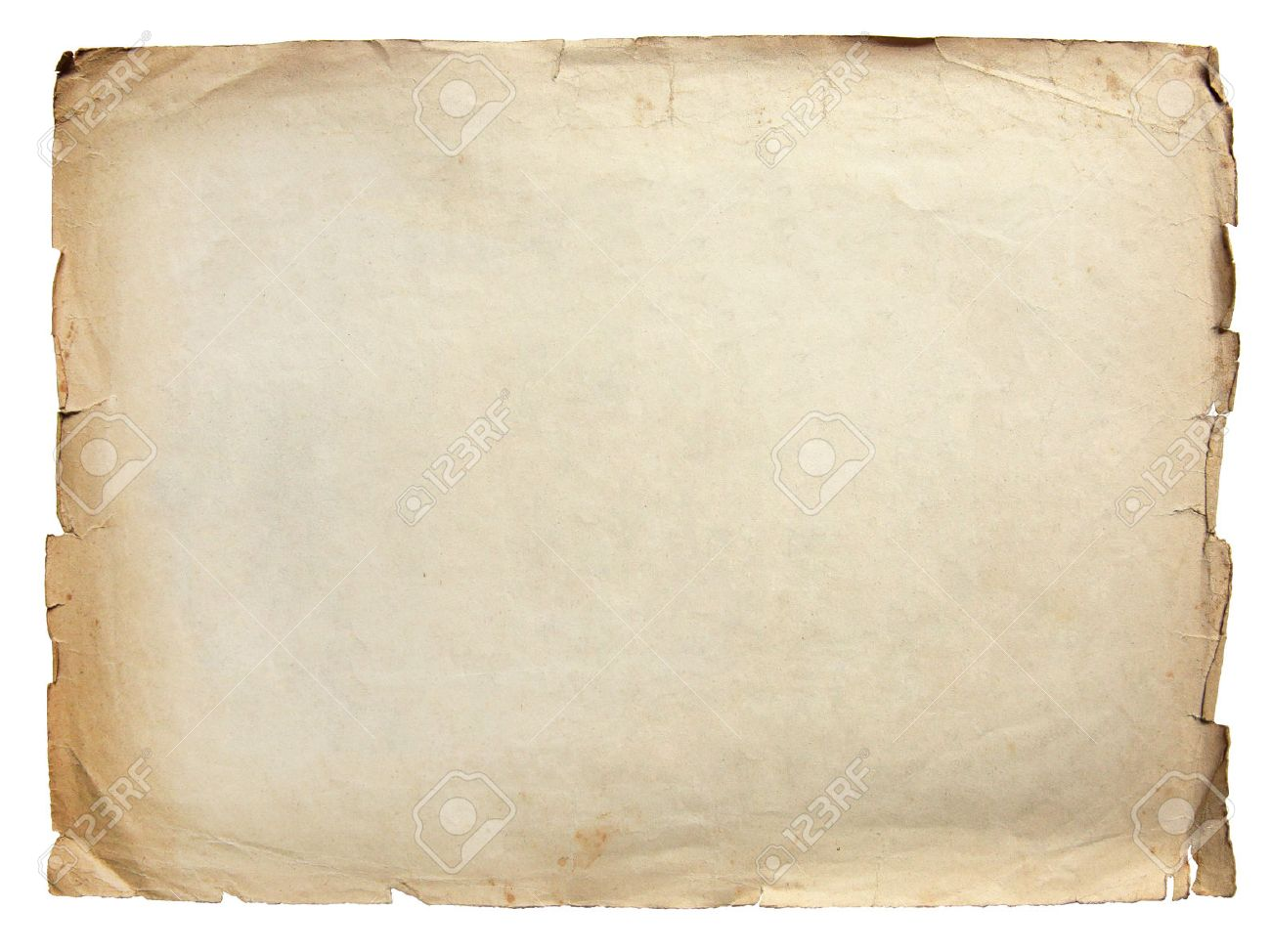 Vintage texture old paper background isolated on white Standard-Bild - 48248690