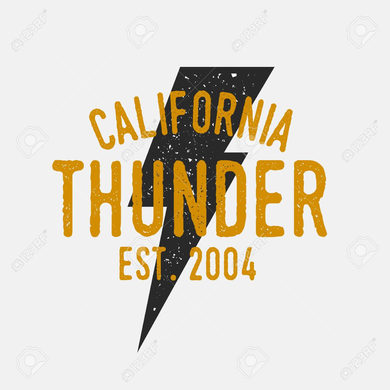 vintage thunderbolt logo vector logo template with grunge texture royalty free cliparts vectors and stock illustration image 132399538 123rf com
