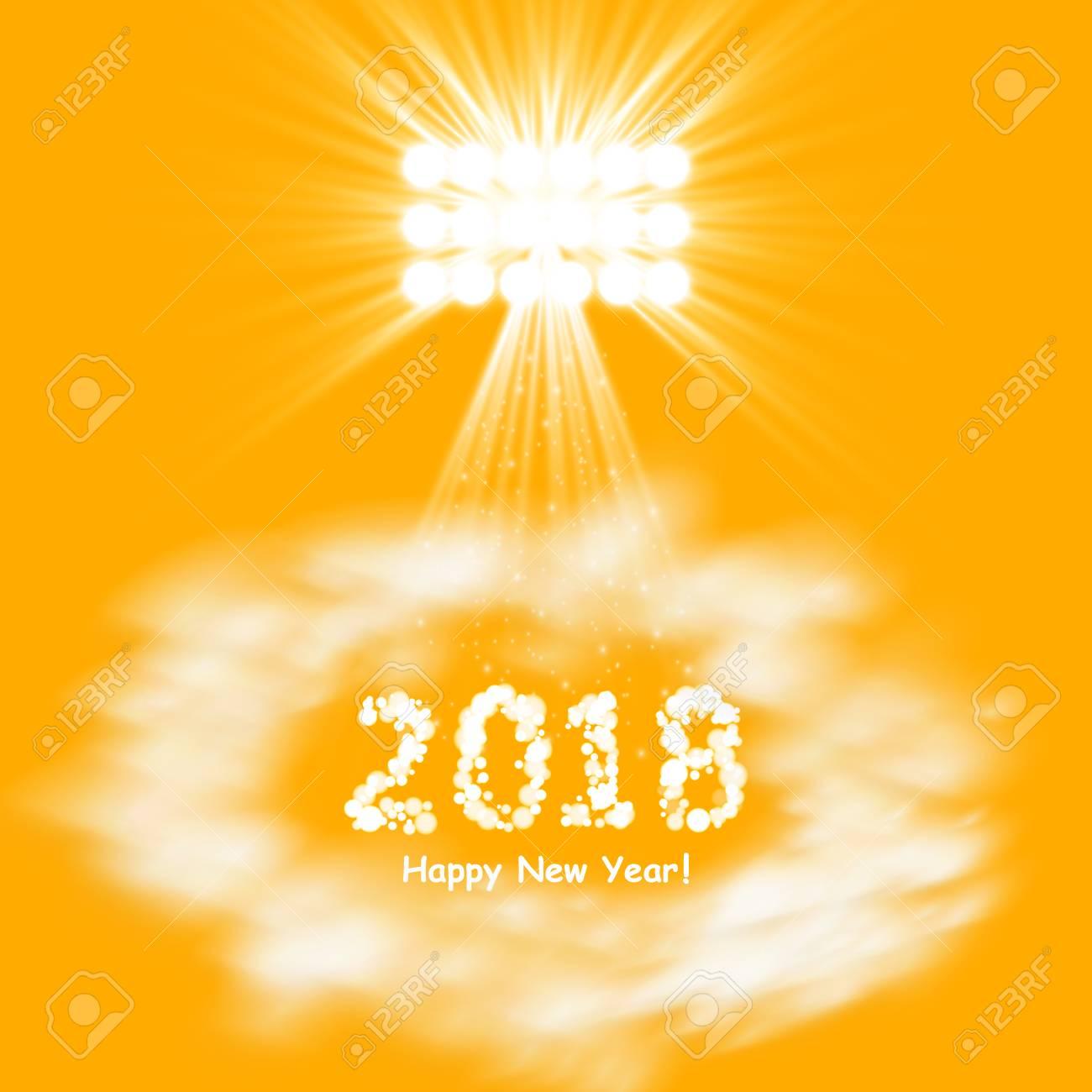 Cartel De La Fiesta De Navidad. Feliz Año Nuevo 2018 Folleto ...