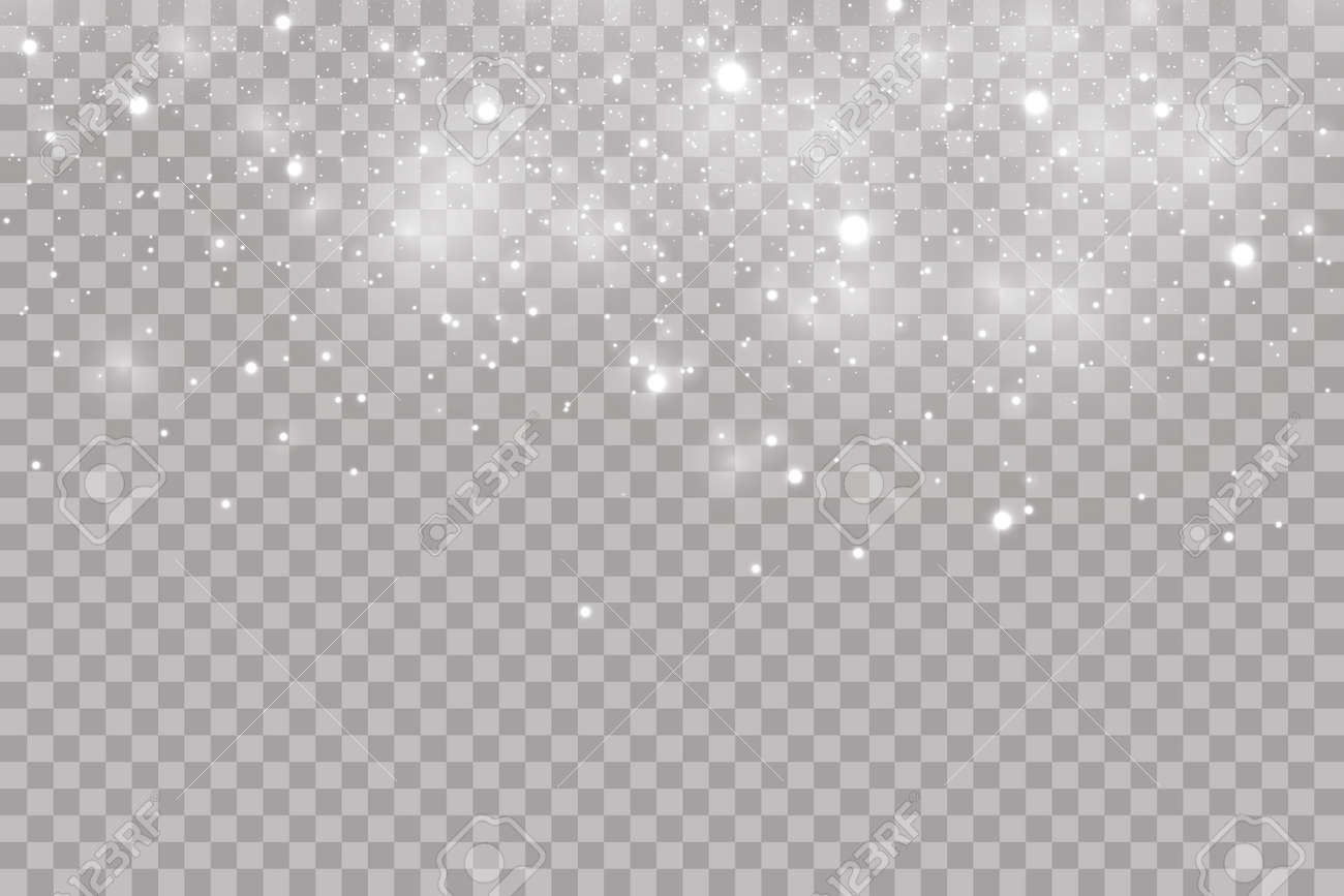 Falling hail or snow on a transparent background. Falling water drops texture. - 159249121