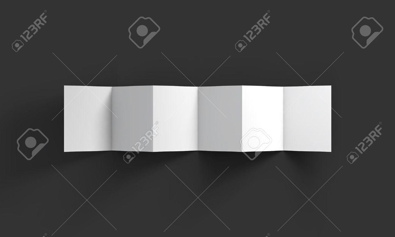 Zick-Zack-weiß 6-seitige Broschüre Mockup-Vorlage. Lizenzfrei ...
