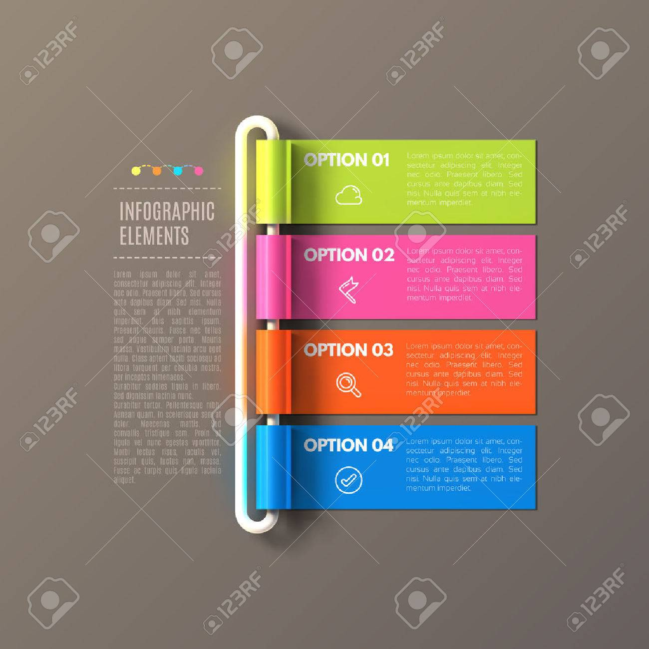 banner steps business infographic template royalty free cliparts
