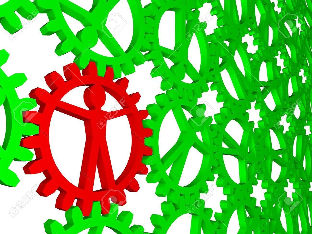 People like gears - company, work, individuality Stock Photo - 12995515