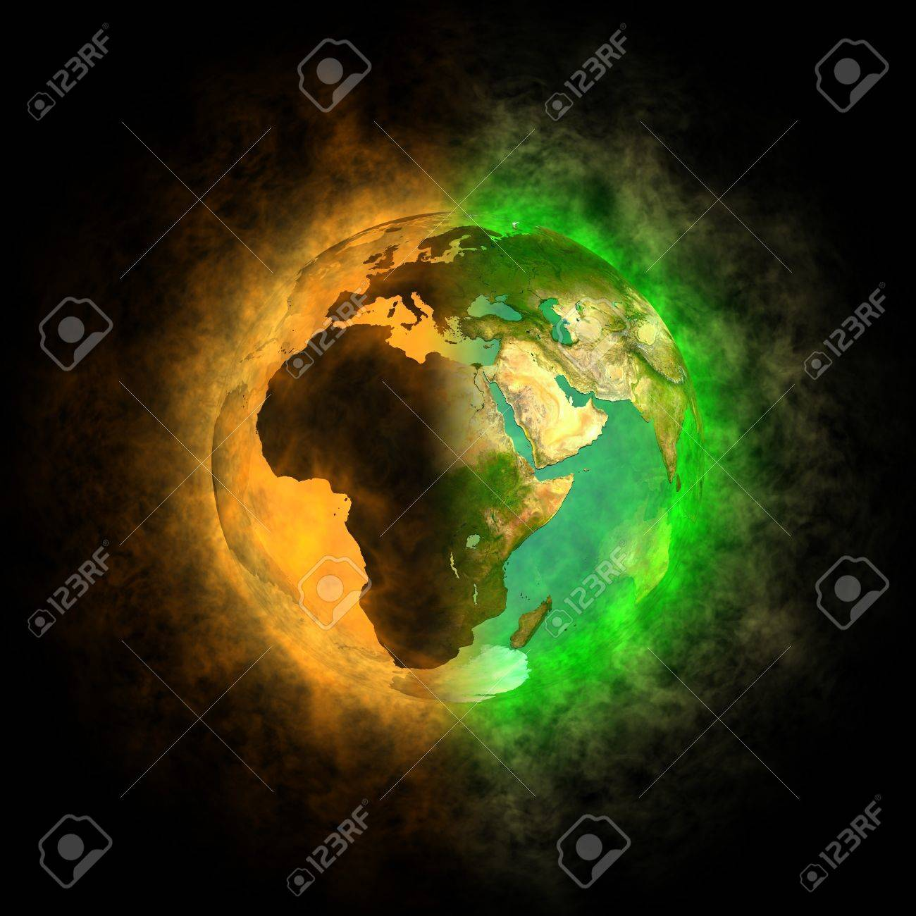 2012 - Transformation of Earth - Europe, Asia, Africa Stock Photo - 13446783