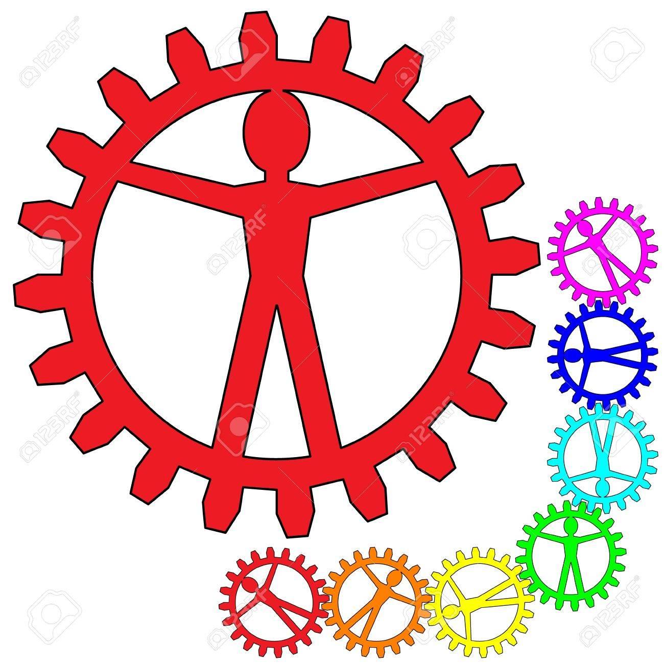 People like gears - company, work, individuality Stock Vector - 13741953