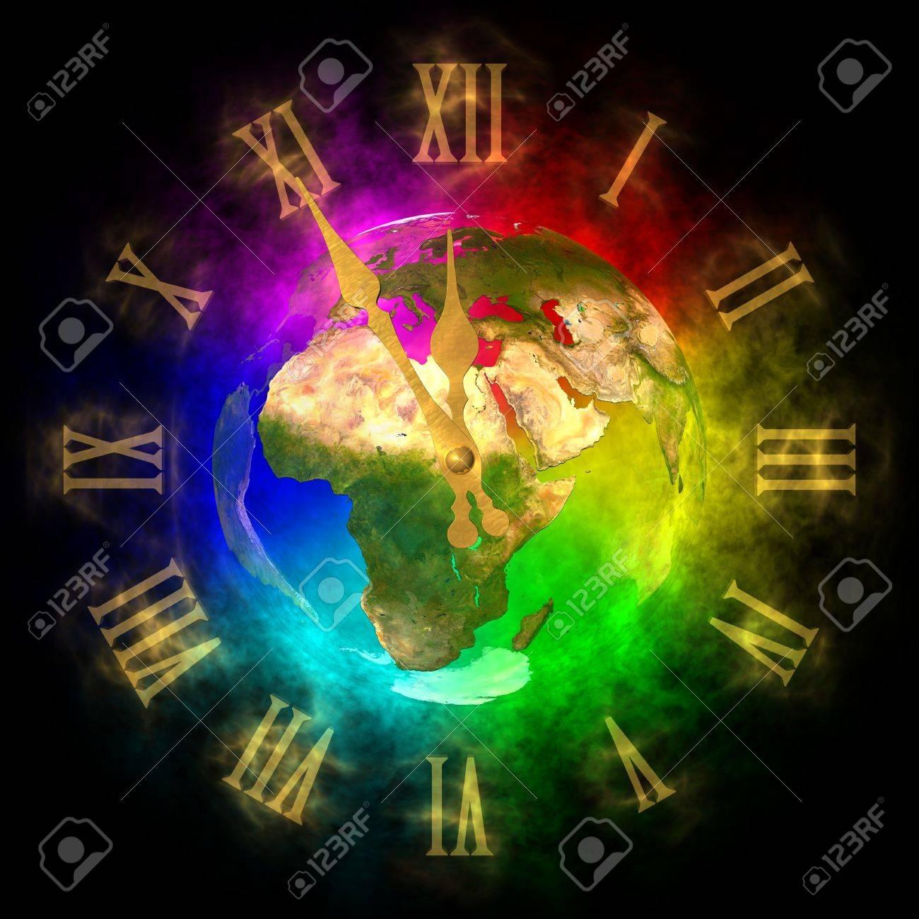 Cosmic clock - optimistic future on Earth - Europe Stock Photo - 13741975