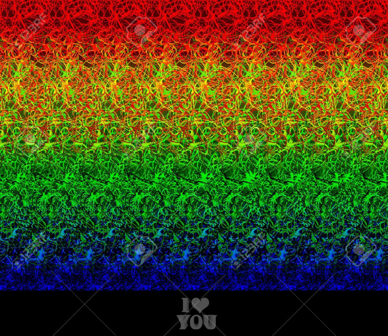 Valentine Greeting I Love You Stereogram Autostereogram Creates