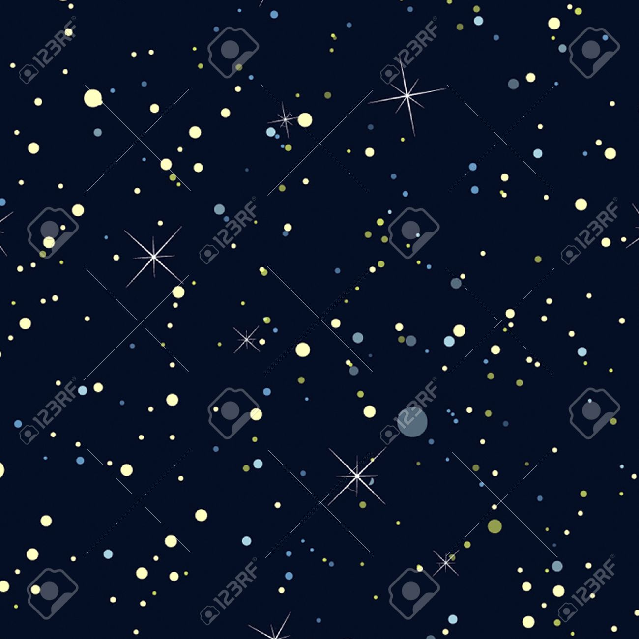Night Sky with Stars Seamless  background, wallpaper Stock Vector - 14589242