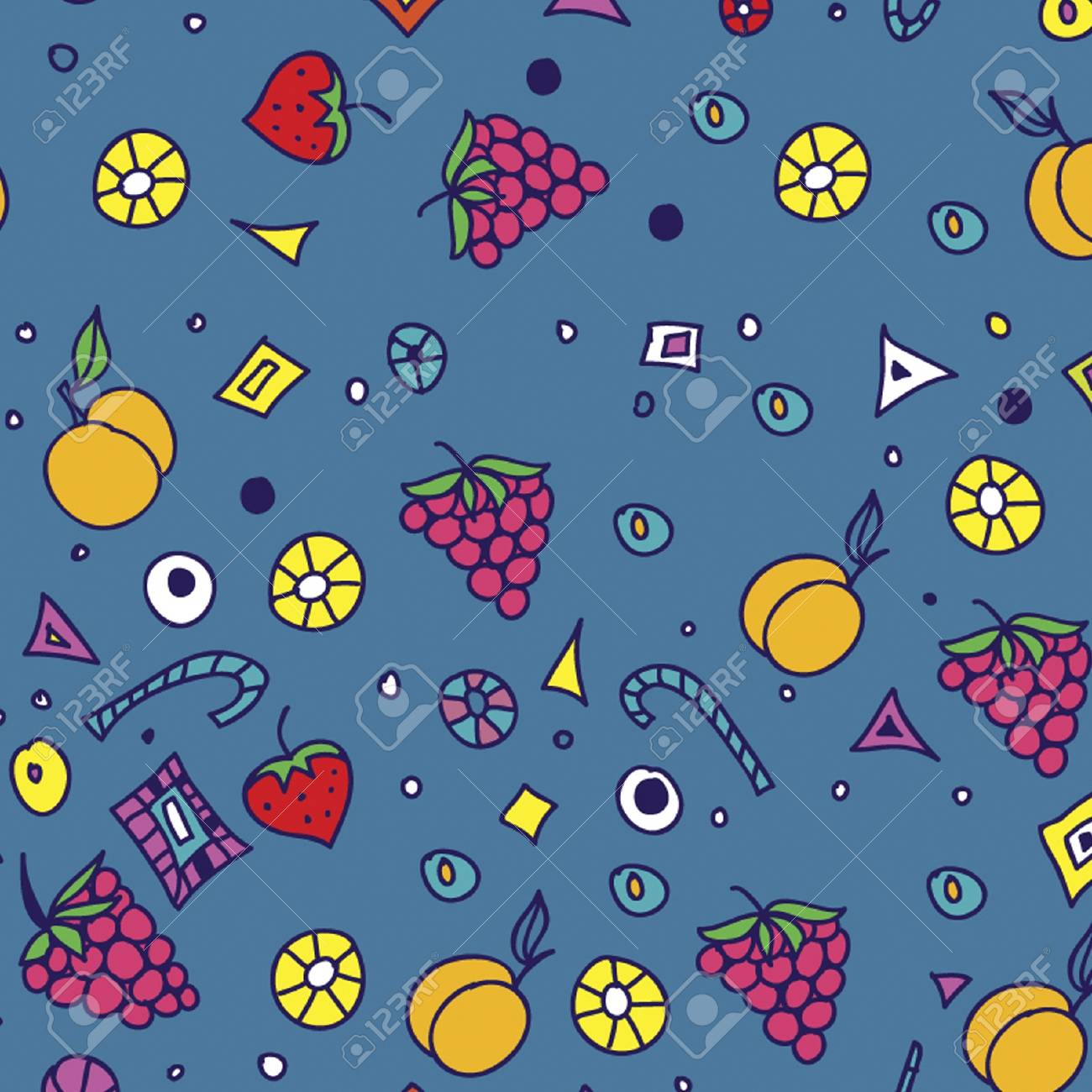seamless pattern with fruit  seamless ornament Stock Vector - 14589481