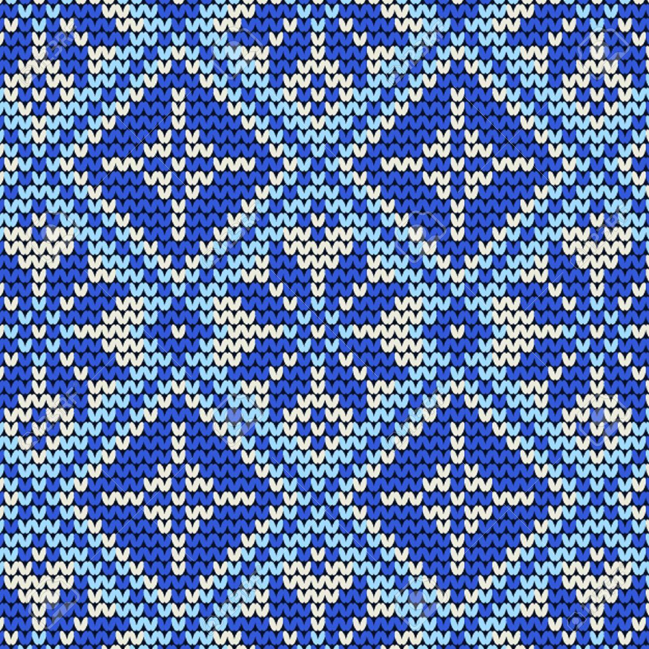 Seamless Knit Pattern, Knitted Texture Seamless Snowflake Knit ...