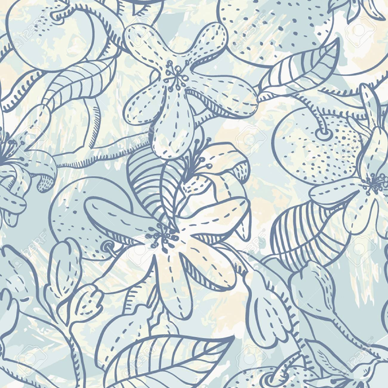 Floral seamless pattern Stock Vector - 17586983