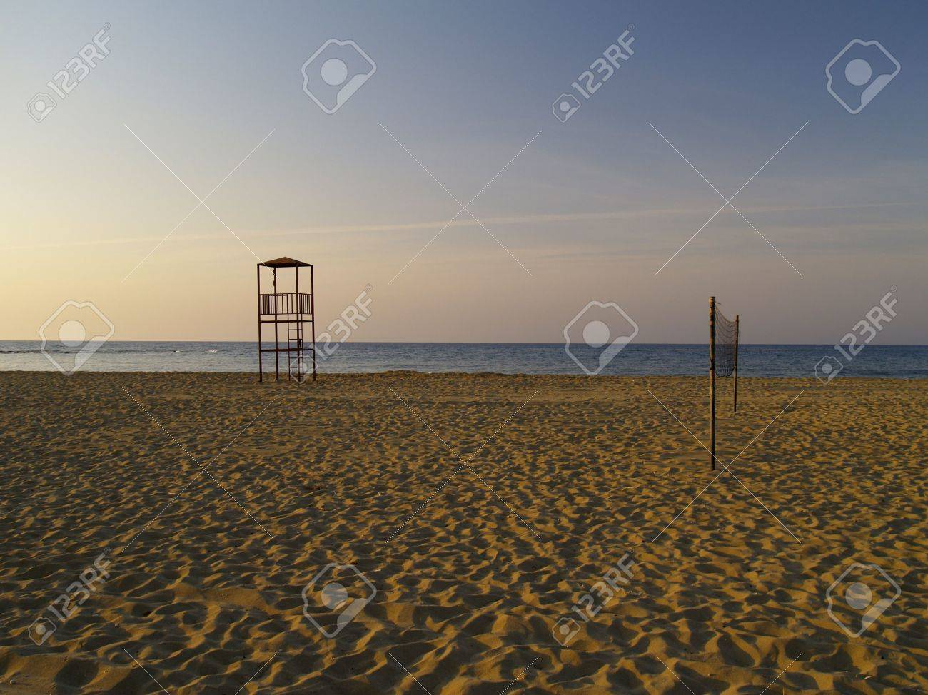 beach in the evening Stock Photo - 465073