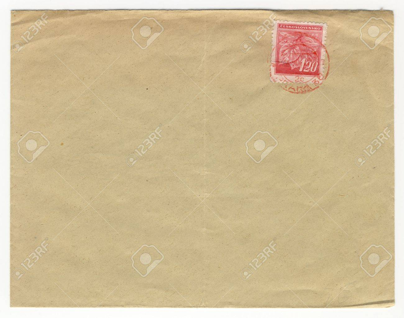 old envelope with blank address field Stock Photo - 728025