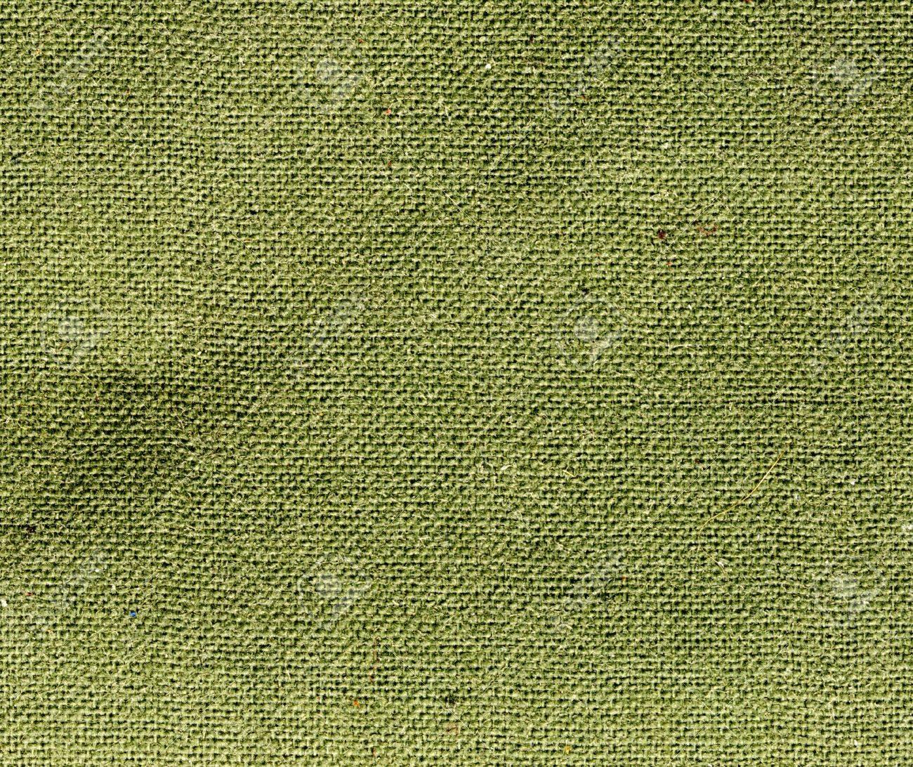 Green Burlap Fabric Texture
